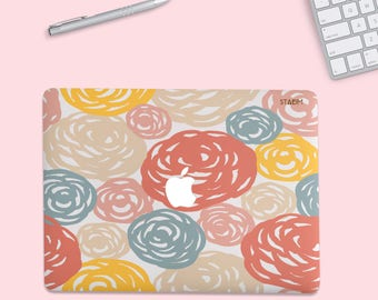Painted Floral MacBook Pro Case, mac book case, MacBook Pro case, Macbook Pro 13 Case, Macbook Case, macbook air case, MacBook Pro 15 Case