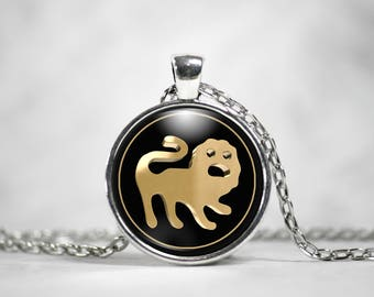 Leo Zodiac Sign Necklace - Leo Astrological Jewelry