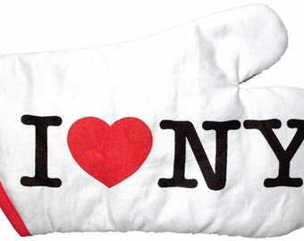I Love New York Black White or Pink Oven Mitts
