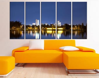 large wall art, denver skyline canvas print, denver wall art, Extra Large wall art Print, denver city skyline canvas no:8s2