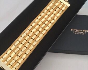 1960's Gold Cuff Bracelet