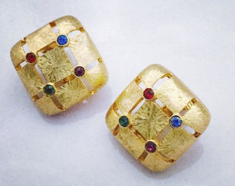 1960's Goldtone Clip Earrings