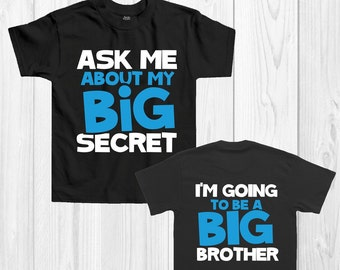 Children's announcement Big Brother T-shirt 'I'm going to be a big brother'