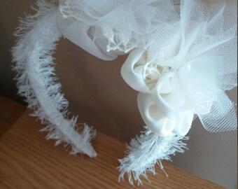 Wedding headband for bride or bridesmaid