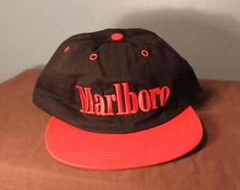 Vintage 90's Marlboro Snap-Back Hat