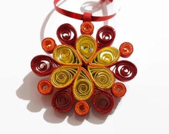 Mandala wall art, Quilling mandala, Quilling wall art, Hanging wall ornament, Quilling, Gift, Housewarming gift, Small gifts