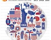 SVG Cutting File, USA, Am...