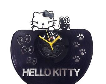 Hello Kitty Vinyl Clock