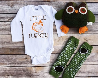 Little Turkey, Thanksgiving onesie, new baby gift, new baby onesie, baby shower gift, baby announcement, Toddler shirt, baby girl, baby boy