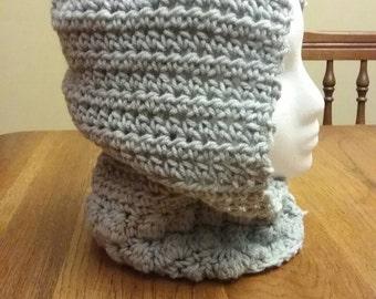 Acrylic hand crocheted hood