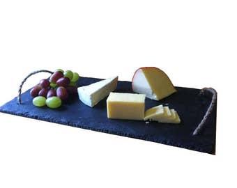 Handmade Natural Slate Cheeseboard 20cm x 40cm Starter BBQ Sushi Serving Platter Plate