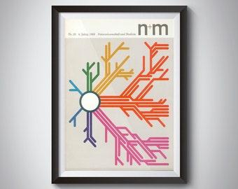 1969 N+M Natural Science & Medicine German Mid-Century Magazine Graphic Design Print NR 26/6