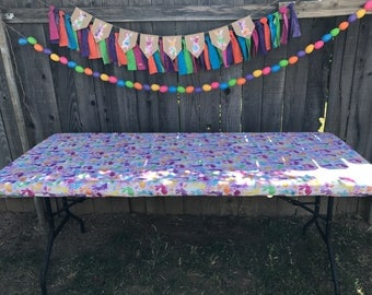 Beautiful Easter Fitted Tablecloth, Folding Table Cover, Easter, Holiday