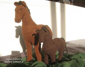 Stuffed Crochet Horse