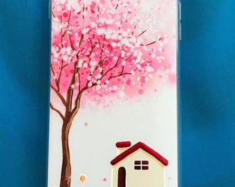iPhone 7 iPhone 7plus cherry clossom house case