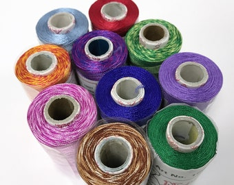 10 x Assorted Natesh Rayon Thread 550m 4 Machine/Hand Embroidery Sewing Quilting