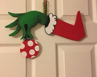 Grinch Hand Door Hanger