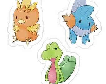 Pokémon Hoenn Starter Pack Stickers