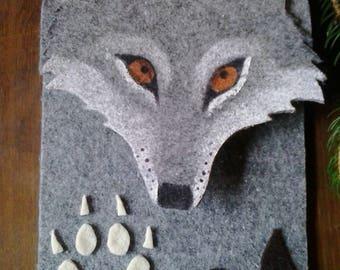 Wolf felt hard case wallet