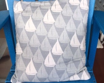 Gray and White Sailboats