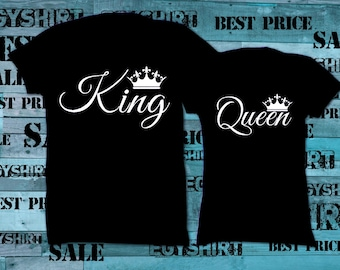 King Queen love couple black, tshirt custom best price fast shipping