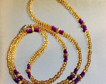 Purple Trophy Waist Beads