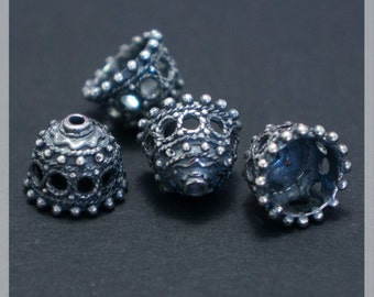 Sterling Silver Bead Caps 2 pcs