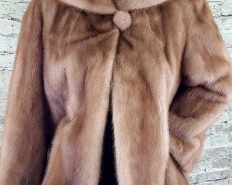 Vintage 1958 Red/Blond Mink Coat