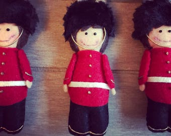 Handmade Grenadier Guard - Soldier - Nelson - Felt - Queen's Guard - London