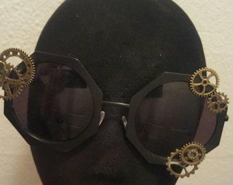 Steampunk gears sunglasses