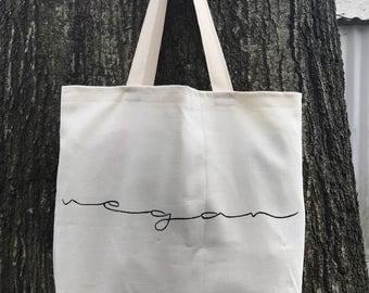 Vegan Handmade Organic Tote Bag