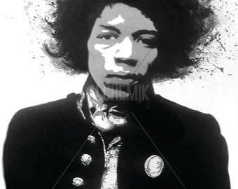 Jimi Hendrix Illustration (print)