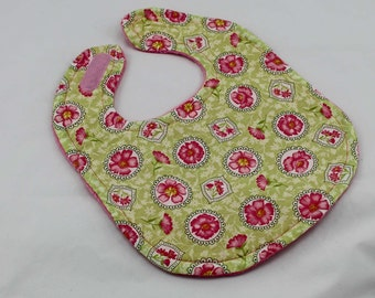 Pink Flowers bib