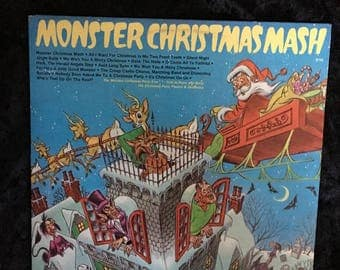 Monster Christmas Mash LP 70s Peter Pan Records 8153