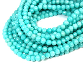 """Two 15"""" strands Amazonite Beads 6mm, Two 15"""" strands"""