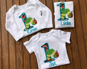 The very hungry caterpillar birthday shirt outfit