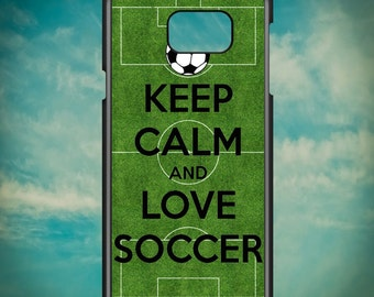 Keep Calm And Love Soccer for Samsung Galaxy Note 3, Samsung Galaxy Note 4, Samsung Galaxy Note 5, Electronic Phone Case