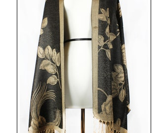 Black and Gold pashmina Shawl