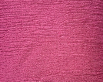 2 Yards Crinkle Crepe Cotton Burgundy Fabric