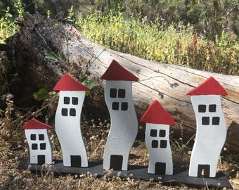 Handmade wood houses shaky