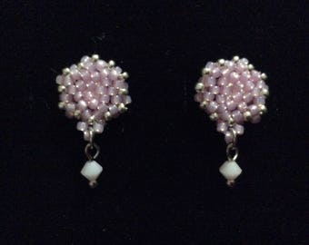 Beaded Stud Earrings