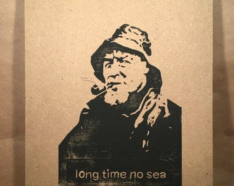 Long time no sea - sailor graphic