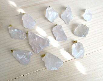 Rock quartz pendant, natural quartz, rough pendant, quartz pendant, free form pendant, crystal quartz nugget, mala pendants