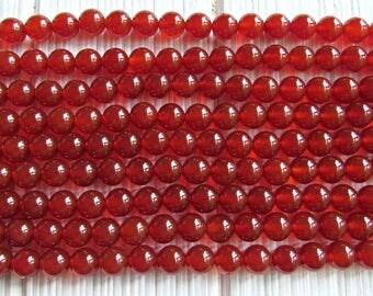 6mm red Carnelian, 6mm carnelian, full strand. A quality, gemstones Carnelian, Carnelian 6mm, Red beads, natural carnelian, us seller