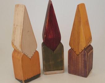 Wooden Miniature Gnome, Montessori and Waldorf Gnomes, Shelf Decor, Wooden Elf, Wooden Dwarf, Shelf Sitter, Home Decor