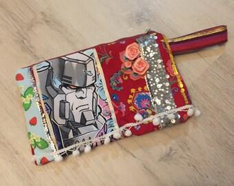 Supercute Megatron purse/clutch/cosmetic/penicl bag