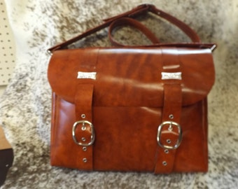 Leather Satchel, Brown