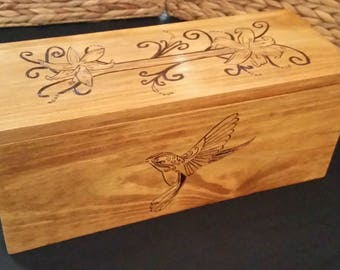 Flower and Hummingbird Box