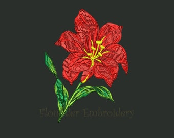 Flower Embroidery Designs 5 Size Embroidery Designs INSTANT DOWNLOAD