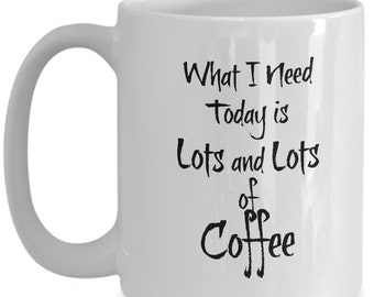 Great Coffee Lover Gifts, Mugs with Sayings, Our Gilmore Girls Coffee Mug is a Perfect Gift for Her! Lots of Coffee in this Funny Coffee Mug